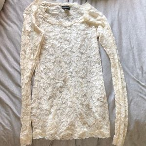 White lace long sleeve
